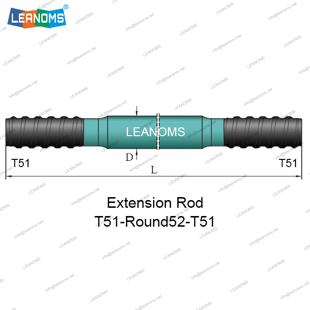 T51-Round52-T51 Extension Drilling Rod