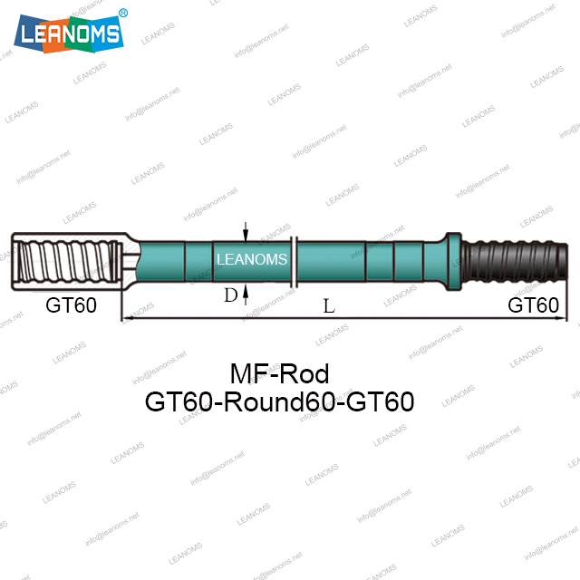 GT60-Rounds60-GT60 MF Drilling Rod